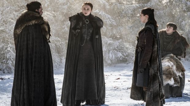 The Stark siblings demand a family meeting. Yeah, ABOUT that, says Jon