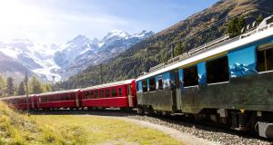 The Bernina Pass view in Switzerland. Photograph: Getty Images
