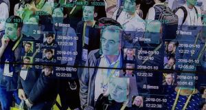 A live demonstration uses artificial intelligence and facial recognition at the Las Vegas Convention Center. Experts believe it is already too late to restrict the movement of face data across geographic borders. Photograph: David McNew/AFP/Getty Images