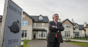 Michael O'Flynn at his development in Lucan, one of four that he has under way in the greater Dublin area. Photograph: Brenda Fitzsimons