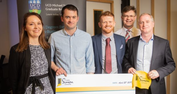 Project Management students have raised more than €500,000 for Irish Charities in the past 10 years through the annual charity assignment, including over €12,000 for Dublin Simon Community in 2019