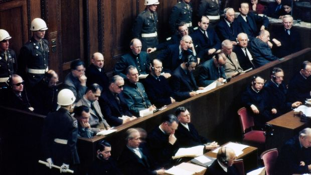 For a long time, despite the Nuremburg trials, many Germans continued to believe that Nazi crimes were the fault of just a small number of evil individual leaders. Photograph: Raymond D'Addario/Galerie Bilderwelt/Getty Images