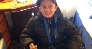 Joshua McCarthy (12) has the rare developmental condition, pachygyria.