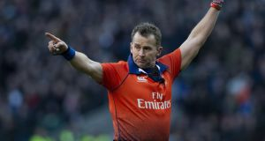 Wayne Barnes is one of 12 referees selected to officiate at the Rugby World Cup in Japan. Photo: Getty Images