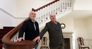 Developer Pat Wigglesworth and conservationist Ian Lumley  at 3 Henrietta Street in Dublin. Photograph: Laura Hutton