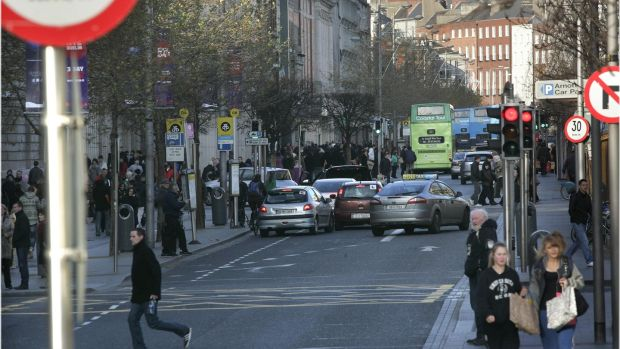"""The fact is that few Irish people willingly set foot on O'Connell Street or get a close-up of it from anywhere but a taxi or the top of a bus so they tend to avert their gaze."" File photograph: Dara Mac Dónaill"