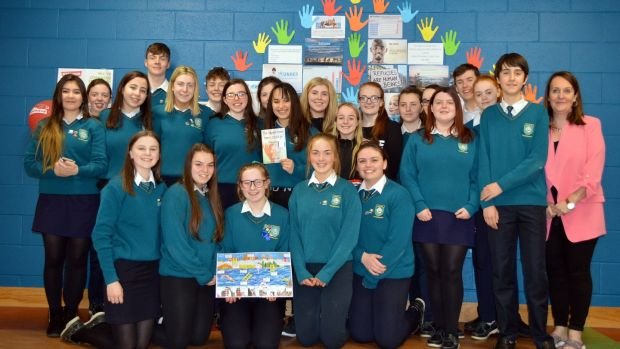 Students of Largy College who took part in the initiative. Photograph courtesy of Caroline Reid, Irish Refugee Council