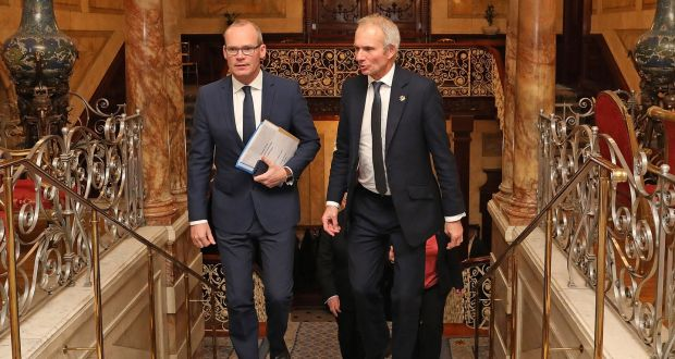 Simon Coveney and David Lidington will sign the agreement in London on Wednesday ahead of a meeting of the British-Irish Intergovernmental Council. Photograph: Julien Behal