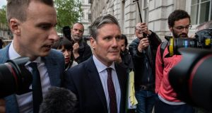 Labour's Brexit spokesman Keir Starmer arrives at the Cabinet office to attend a cross-party Brexit meeting. Photograph: Chris J Ratcliffe/Getty Images