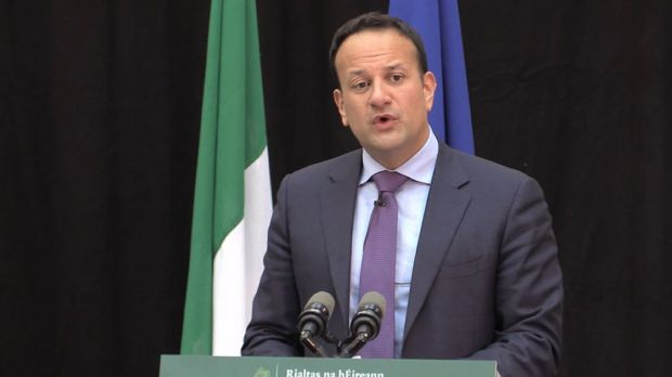 Taoiseach Leo Varadkar speaking in Dublin after the Government approved the National Broadband Plan at a cost of €3 billion euro. Photograph: Michelle Devane/PA