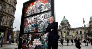 Northern Ireland has seen an upsurge in visitors on the back of the success of the Game of Thrones - this stained glass installation at Belfast City Hall was set up to mark the success.