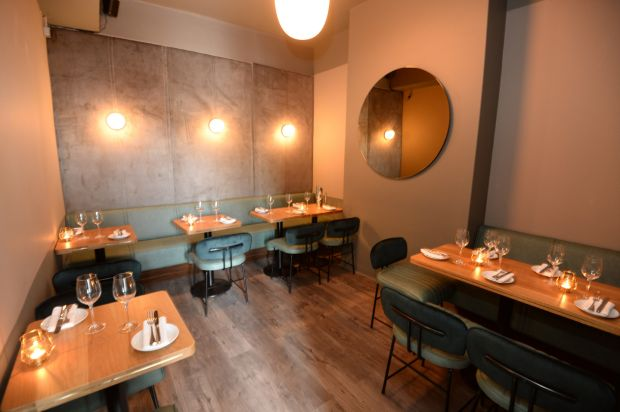 Little Mike's: Gaz Smith's new wine bar seats 15 people in a snug dining room. Photograph: Dara Mac Dónaill