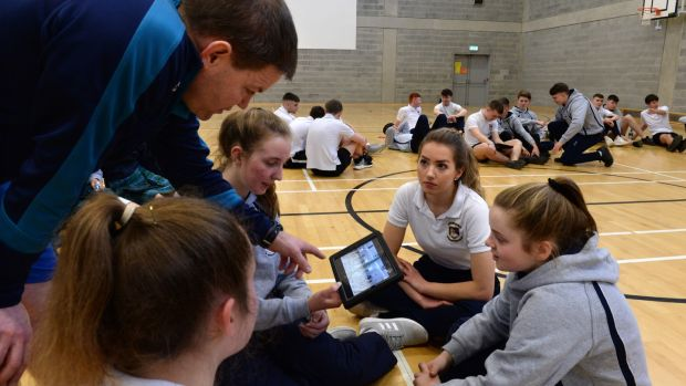 Leaving Cert PE is heavily dependent on technology with marks for a digital portfolio and video-recording sports performance for self-assessment. Photograph: Dara Mac Dónaill