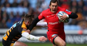 Alex Goode has carried the ball more than any other  Saracens player in this year's  European Champions Cup. Photograph: Alex Livesey/Getty Images