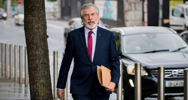 Gerry Adams says he was in car crash in which IRA man on