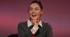 Actor Saoirse Ronan at Scoil Chaitríona, Drumcondra, Dublin, during a Penguin Talks event for students.  Photograph Nick Bradshaw for The Irish Times
