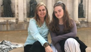 Lara O'Brien with her daughter  Francesca: 'I weigh up my excitement and creeping fears.'