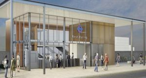 An artist's impression of West Ealing rail  station which will be built by Graham