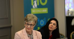 Minister for Children and Youth Affairs Katherine Zappone and Tanya Ward, chief executive of the Children's Rights Alliance. Photograph: Dara Mac Dónaill