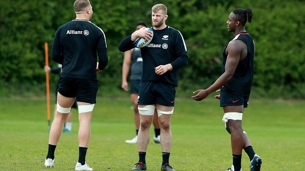 George Kruis and Maro Itoje have formed a powerful secondrow partnership. Photograph: David Rogers/Getty Images