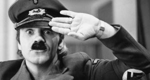 Freddie Starr: the comedian as Adolf Hitler in 1977; his controversial act probably wouldn't be tolerated today. Photograph: Graham Wood/Evening Standard/Getty