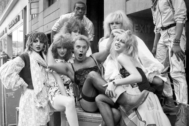 Freddie Starr: the comedian with the dancing group Hot Gossip, in 1982. Photograph: PA Wire