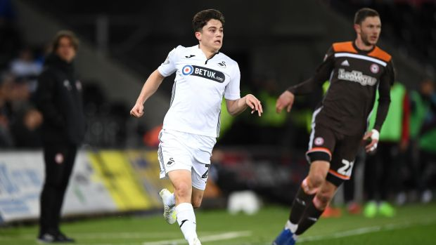 Swanes City winger Daniel James has been linked with a move to Manchester United. Photograph: Stu Forster/Getty