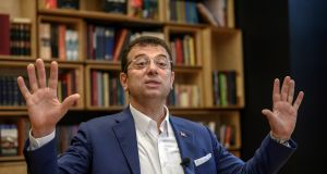 "Turkish opposition candidate for Istanbul's re-run mayoral election Ekrem Imamoglu: ""My only aim now is to run Istanbul."" Photograph Bulent Kilic/AFP/Getty Images"