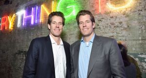 Cameron Winklevoss, left, and Tyler Winklevoss, the Bitcoin billionaires. Photograph: Stefanie Keenan/ Getty Images for Hauser & Wirth