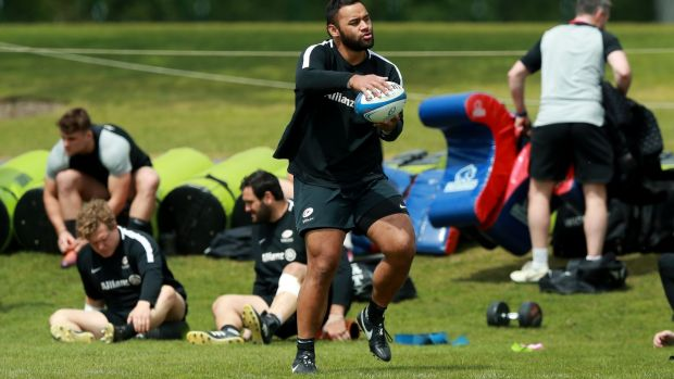 Billy Vunipola starts for Saracens against Leinster in Newcastle. Photograph: David Rogers/Getty