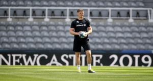 Owen Farrell at St James' Park ahead of Saturday's Champions Cup final. Photograph: Dan Sheridan/Inpho