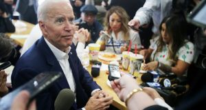 Joe Biden on the campaign trail in Los Angeles this week. Photograph: Mario Tama/Getty Images