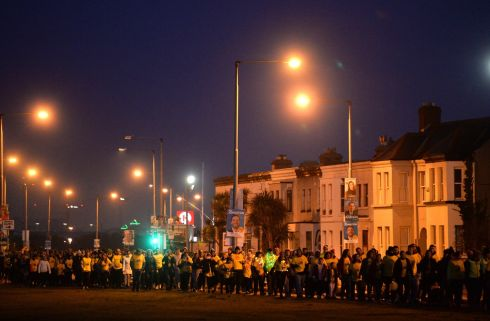 Participants in the Darkness Into Light event in Clontarf, Dublin, in aid of Pieta House. as part of the global fight against suicide and self-harm. Photograph: Dara Dónaill/ The Irish Times