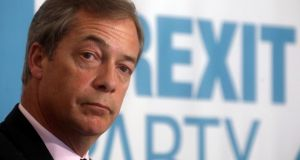 Brexit Party leader Nigel Farage who appeared on  BBC's Question Time this week. Photograph: Reuters