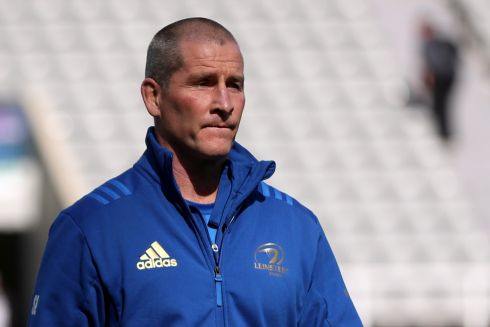 Leinster senior coach Stuart Lancaster during the warm up before the match. Photo: Reuters/Lee Smith