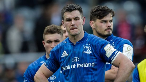 Johnny Sexton after Leinster's defeat to Saracens. Photograph: Billy Stickland/Inpho