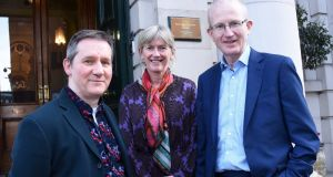 From left,  Phil Kingston, community and education manager, Abbey Theatre; Prof Mary Horgan, RCPI president; and Prof Chris Fitzpatrick.