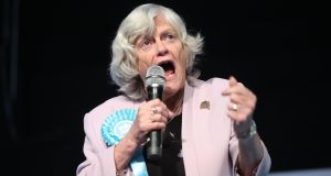 Ann Widdecombe during a Brexit Party rally at the Rainton Meadows Arena in Houghton-le-Spring. Photograph: Danny Lawson/PA Wire