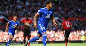 Nathaniel Mendez-Laing's double gave Cardiff City a 2-0 win at Old Trafford. Dan Mullan/Getty
