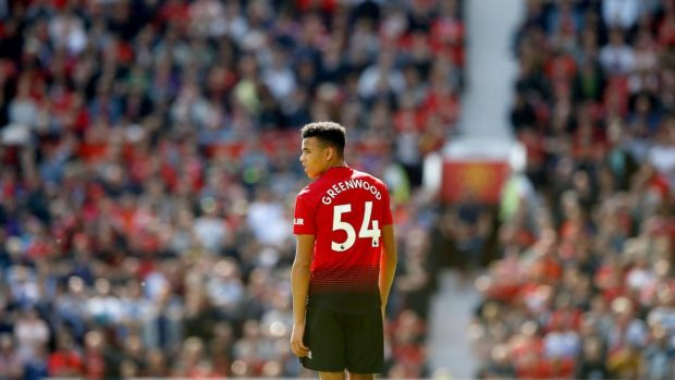 17-year-old Mason Greenwood played 90 minutes for Manchester United against Cardiff. Photograph: Martin Rickett/PA