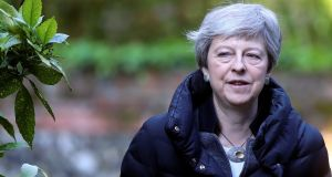 With the drubbing her party received in local elections likely to be intensified in the European elections, the pressure mounts on Theresa May from hard Brexiteers to resign so a new leader can be elected in time for the party's conference in September. Photograph: Simon Dawson/Reuters