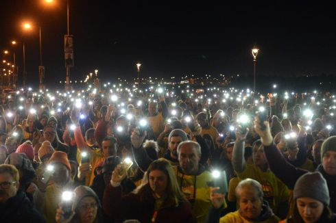 Taking part in the Darkness Into Light event in Clontarf, Dublin, in aid of Pieta House as part of the global fight against suicide and self-harm. Photograph: Dara Mac Donaill/The Irish Times