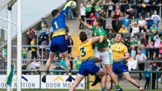 Roscommon's Darren O'Malley makes a save. Photograph: Evan Logan/Inpho