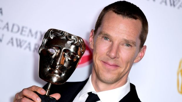 Benedict Cumberbatch who won the best actor TV Bafta. Photograph: Ian West/PA Wire