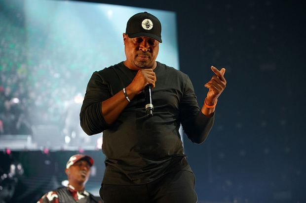 Chuck D of Public Enemy Radio performs on stage at Gods of Rap tour at the SSE Arena, Wembley, on May 10th, 2019. Photograph: Burak Cingi/Redferns