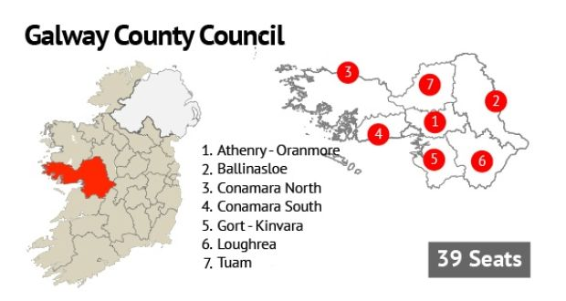Map Of Ireland Galway County.Galway County Council Fianna Fail Takes 15 Seats
