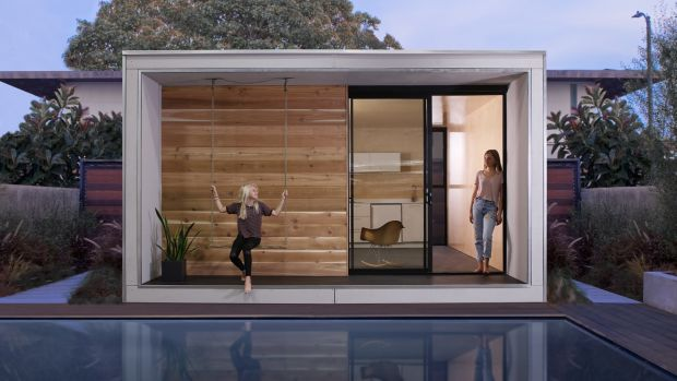 Flat-pack house: a Plús Hús, designed in California by Minarc