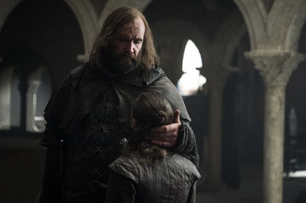 Game of Thrones: the Hound and Arya, the show's finest double act. Photograph: Helen Sloan/HBO