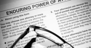 Enduring power of attorney  is a phenomenally powerful document. Photograph: iStock