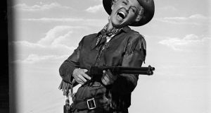 Doris Day in costume on the set of Calamity Jane. Photograph: Ed Clark/The LIFE Picture Collection/Getty Images
